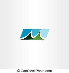 hegy, jelkép, aláír, vektor, tervezés, ikon