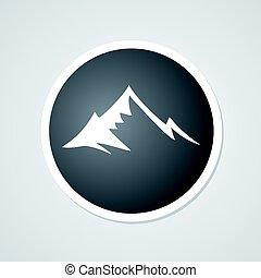 hegy, jelkép, fekete, tervezés