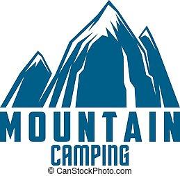 hegy, jelkép, outdoor kaland, kempingezés