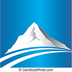 hegy, kép, út, jel