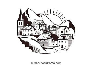 hegy község, táj