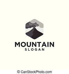 hegy, kitörés, felhő, jel