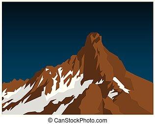 hegy, lakás, havas, gradiens, ábra, háttér