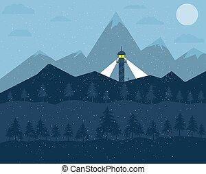hegy parkosít, havas