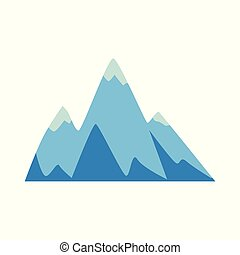 hegy, peaks., három, elem, kő, ikon