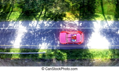 hegy, road., autó, hosszúság, kilátás, elvont, állvány, tető, 10bit, 4k, karikatúra, prores, tető, utazó