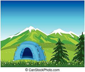 hegy, sátor