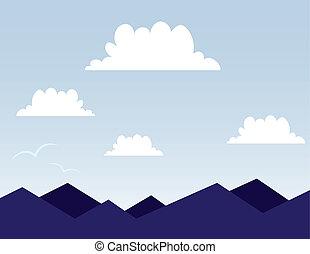 hegy, színhely