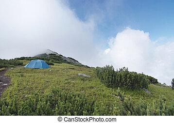 hegy, tábor, carpathians