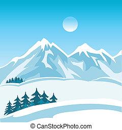 hegy, tél