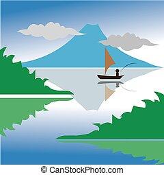 hegy tó, halászat