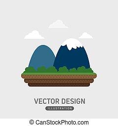 hegy, tervezés, ikon