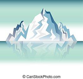 hegy, tervezés, táj, havas