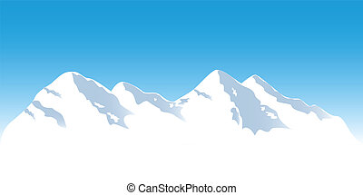 hegy tető, havas