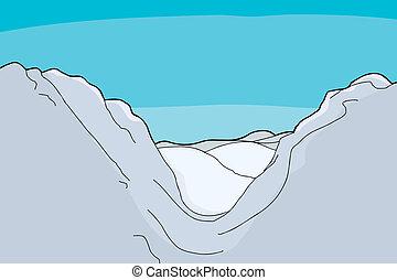 hegy völgy, háttér