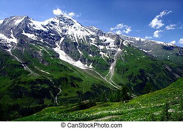 hegyek, ausztria