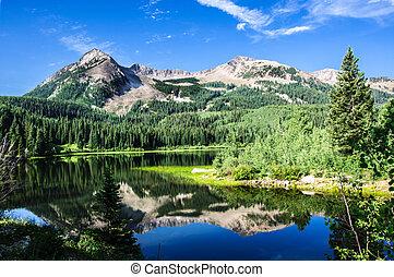 hegyek, colorado, tó
