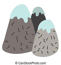 hegyek, hó, ikon