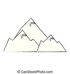 hegyek, hó táj