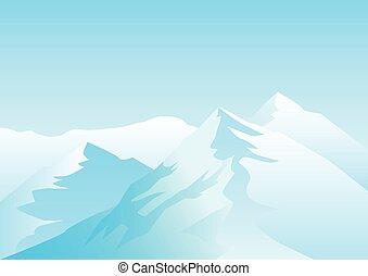 hegyek, havas