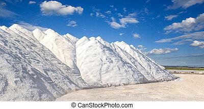 hegyek, lenni, dolgozó, hajlandó, só
