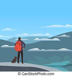 hegyek, völgy, táj