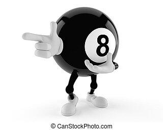 hegyezés, labda, nyolc, betű