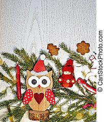 hely, fából való, szöveg, ünnepek, karácsony, háttér, zenemű, fehér, másol, -e