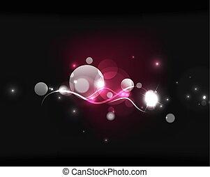 hely, sötét, izzó, csillaggal díszít, panama, fényes