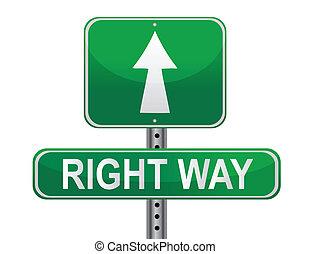 helyes, utca, irány, aláír