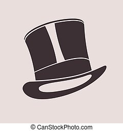 henger, illustration., szüret, tető, úriember, hat., kalap