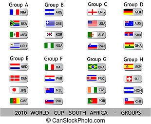 herék, csésze, -, afrika, alakzat, világ, 2010, déli