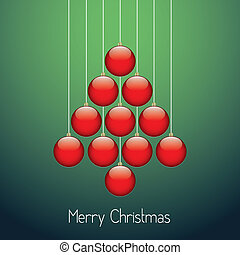 herék, fa, karácsony, piros