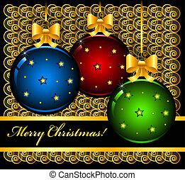 herék, karácsonyi üdvözlőlap