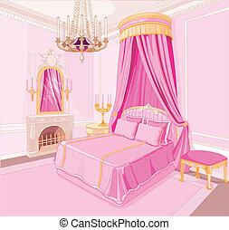 hercegnő, hálószoba