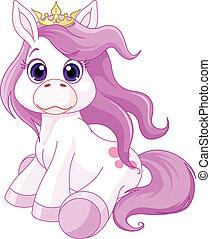 hercegnő, ló, csinos