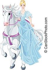 hercegnő, lovaglás, ló