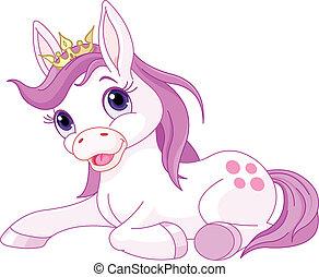 hercegnő, maradék, csinos, ló
