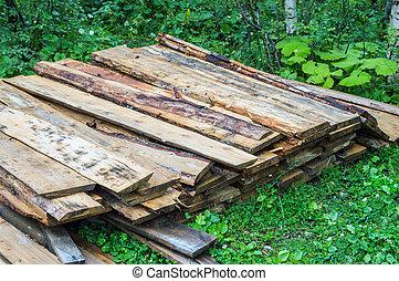hevül fa, cölöp, használt