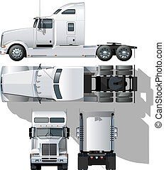 hi-detailed, semi-truck