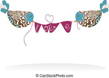 hirdetőtábla, párosít, szeret madár, kedves
