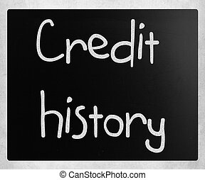 """history"""", tábla, """"credit, kréta, fehér, kézírásos"""