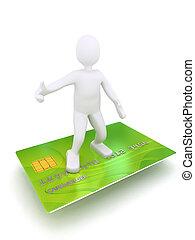 hitel, 3, kártya, személy