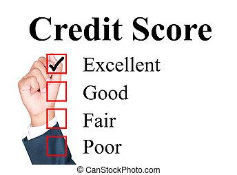 hitel, bemetsz, értékelés, forma