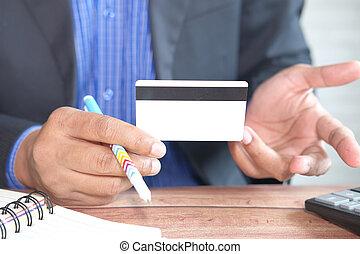 hitel, birtok, felolvasás, kártya, értesülés, kéz