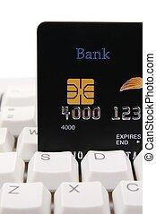 hitel, computer kártya, billentyűzet