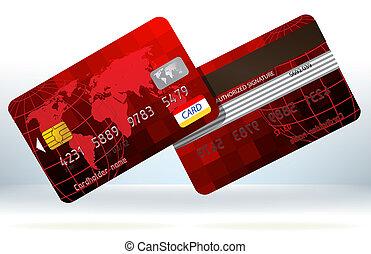 hitel, eps, back., kártya, elülső, 8, piros
