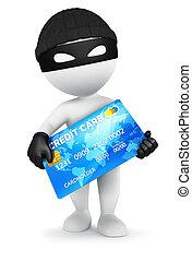 hitel, fehér, 3, tolvaj, emberek