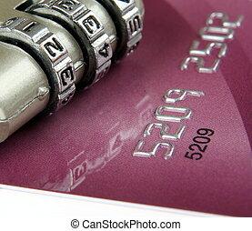 hitel, feláll, kártya, becsuk