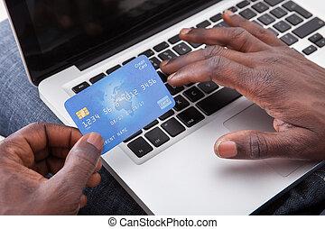 hitel, laptop, kártya, hatalom kezezés